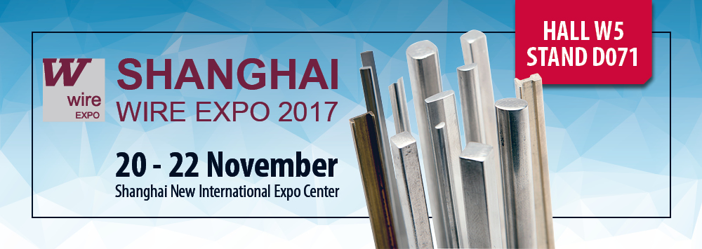 Visit us at Wire Expo Shanghai