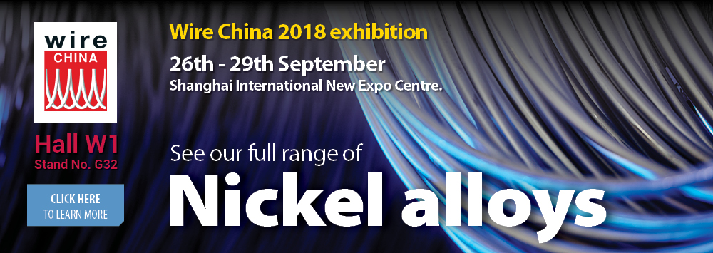 We're exhibiting at Wire China