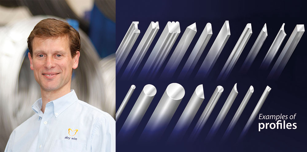 Profile Examples L Investment in production line brings new orders to Alloy Wire