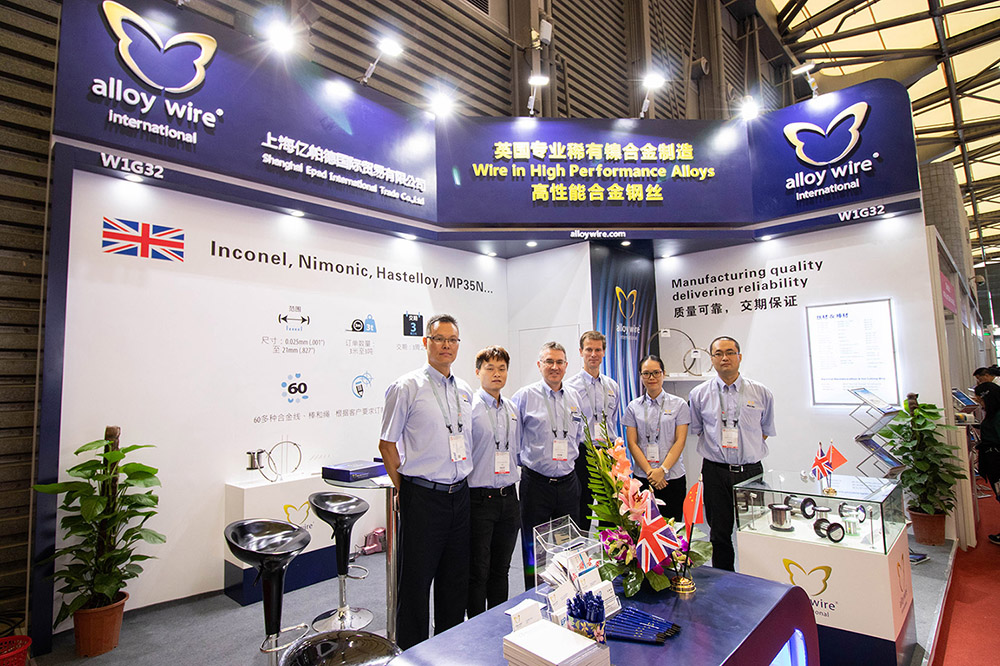 Wire China Team Successful Wire China debut for Alloy Wire International