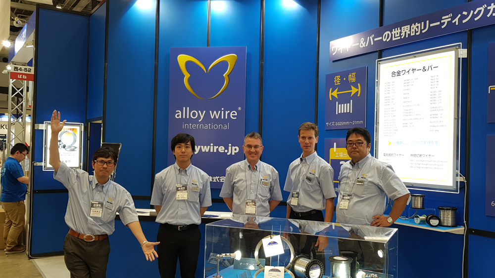 mtech booth Alloy Wire International in Japan as part of Far Eastern sales drive