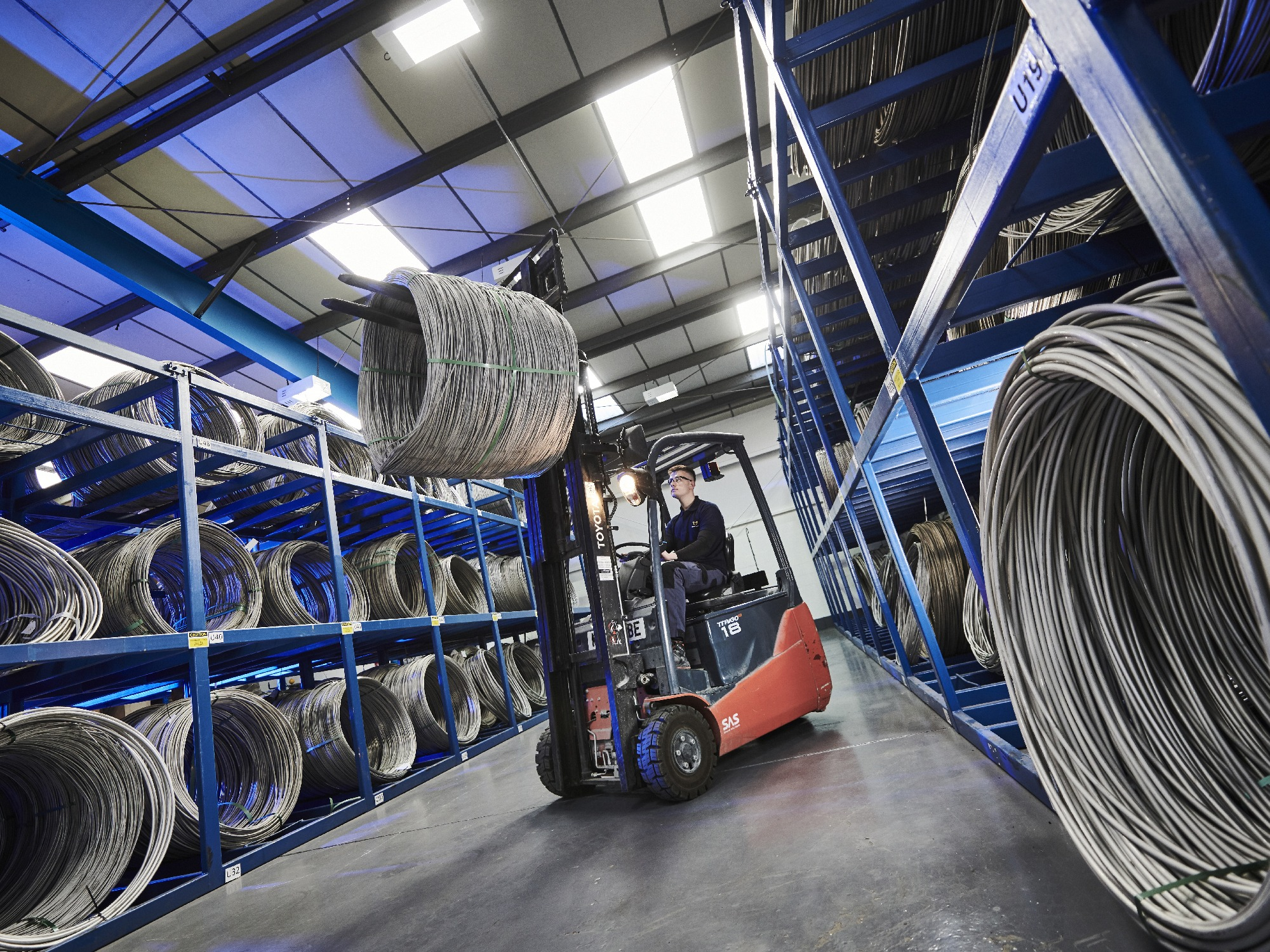 AWI The Times web pics Forklift Truck Local touch keeps wire specialist going strong